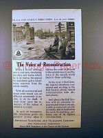 1913 AT&T Telephone Ad - The Voice of Reconstruction