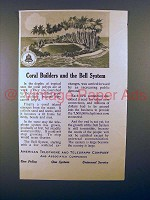 1913 AT&T Telephone Ad - Coral Builders and Bell System