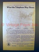 1914 AT&T Ad - What the Telephone Map Shows!