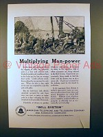 1923 AT&T Telephone Ad - Multiplying Man-Power!