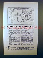 1923 AT&T Telephone Ad - United for The Nation's Need