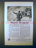 1923 AT&T Telephone Ad - Whatever Else May Fail