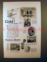 1923 Western Electric Telephone Ad - Gold!
