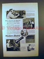 1923 Western Electric Telephone Ad - Diamond Cuts