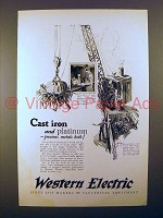 1925 Western Electric Telephone Ad - Cast Iron
