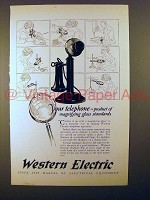 1925 Western Electric Telephone Ad - Magnifying Glass