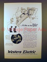 1925 Western Electric Telephone Ad - Like Two peas