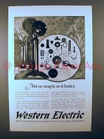 1925 Western Electric Telephone Ad - Not So Simple
