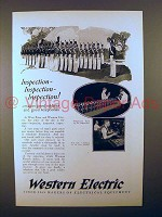 1925 Western Electric Telephone Ad - Inspection!