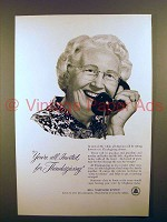 1954 Bell Telephone Ad - All Invited for Thanksgiving