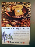1960 General Telephone Ad - Panning Out Pacific