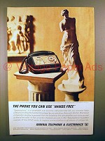 1963 General Telephone Speakerphone Ad - Hands Free
