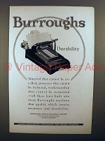 1925 Burroughs Adding Machine Ad - Durability