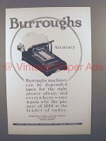 1925 Burroughs Adding Machine Ad - Accuracy