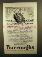 1927 Burroughs Portable Adding Machine - Inventory