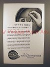 1930 Royal Portable Typewriter Ad - Needle Too Small