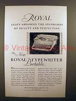 1930 Royal Portable Typewriter Ad - Beauty Perfection