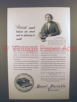 1931 Royal Portable Typewriter Ad - Ida M. Tarbell