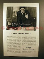 1946 Dictaphone Electronic Dictation Machine Ad - Orchids