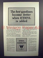 1928 Ethyl Gasoline Gas Ad - Best Become Better