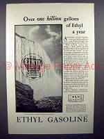 1930 Ethyl Gasoline Gas Ad - Over One Billion Gallons