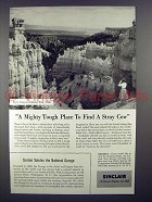 1955 Sinclair Oil Ad - Bryce Canyon National Park, Utah