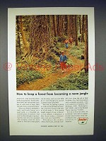 1966 Sinclair Oil Ad - Keep Forest From Neon Jungle