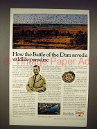 1967 Sinclair Oil Ad - Battle of Dam Saved Paradise