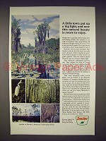 1968 Sinclair Oil Ad - Okefenokee Wildlife Refuge