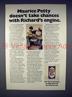 1975 STP Oil Ad - Maurice Petty Doesn't Take Chances
