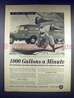 1958 BP Gas Ad - 1000 Gallons a Minute