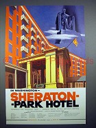 1954 Sheraton - Park Hotel Ad - Washington
