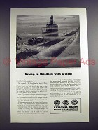 1944 WWII National Dairy Ad - Submarine & Jeep!