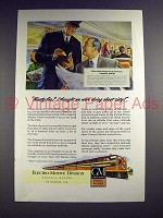 1947 General Motors Locomotive Ad - Panama Limited