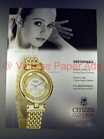 2005 Citizen Eco-Drive Stiletto Watch Ad - Sasha Cohen