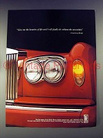 1988 Rolls-Royce Car Ad - Quote by Frank Lloyd Wright