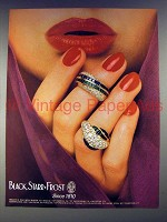 1985 Black, Starr & Frost Ring Jewelry Ad!