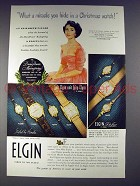 1949 Lord Elgin, Lady Elgin Watch Ad - Elizabeth Taylor