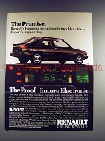 1986 Renault Encore Car Ad - The Promise!