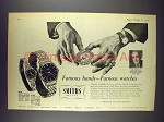 1956 Smiths A.358 Watch Ad - Sir Harold Spencer Jones