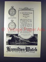 1923 Hamilton No. 920 Byron, No. 910 Franklin Watch Ad