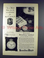 1926 Hamilton Buchanan Watch Ad - Broadway Limited
