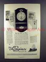 1925 Longines Watch Ad - East of Suez or West