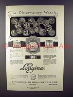 1928 Longines Watch Ad - The Observatory Watch