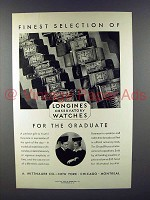 1930 Longines Watch Ad - Finest Selection