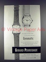 1951 Girard Perregaux Gyromatic Watch Ad!