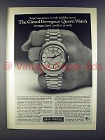 1972 Girard Perregaux Quartz Watch Ad - Super-Accuracy