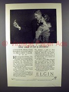 1926 Elgin Watch Ad - She Said it For a Lifetime