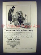 1925 Hoover Vacuum Cleaner Ad - Dirt Fears One Thing