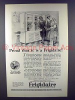 1926 Frigidaire Electric Refrigerator Ad - Proud
